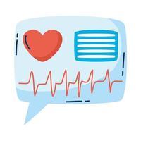 medical heart cardiology in speech bubble