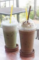 Two frozen coffees