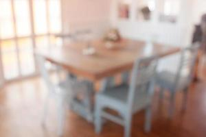 Blurred dining room background