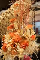 White and orange dried flowers