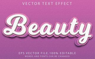 efecto de texto belleza vector