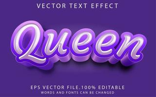 efecto de texto reina vector