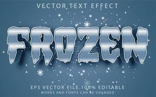 efecto de texto congelado vector
