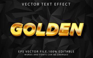 efecto de texto dorado vector