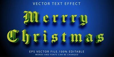 efecto de texto feliz navidad vector