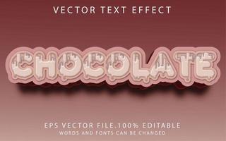 efecto de texto chocolate vector