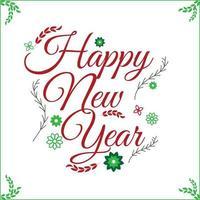 happy new year wallpaper in flower art