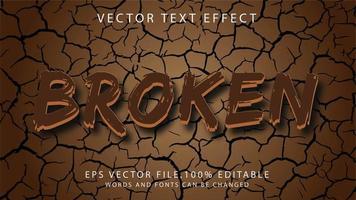 efecto de texto roto vector