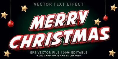 efecto de texto feliz navidad premium vector