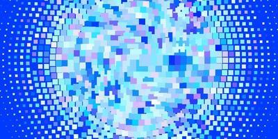 Light Pink, Blue vector texture in rectangular style.