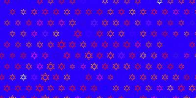 Dark multicolor vector background with covid-19 symbols