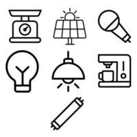 Appliances line icon set vector
