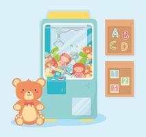 kids toys object amusing cartoon teddy picker machine alphabet numbers boards