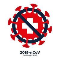 Suiza bandera firmar precaución coronavirus vector