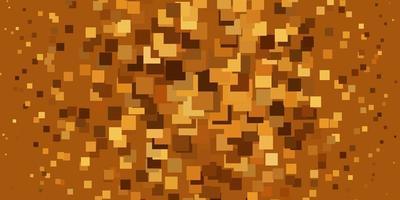 patrón de vector naranja claro en estilo cuadrado.