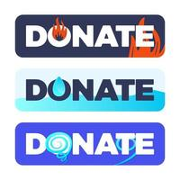 Donation button for natural disaster set