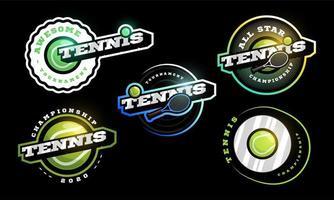 Tennis vector logo Set