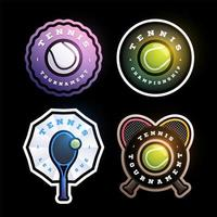 Tennis circular vector logo Set