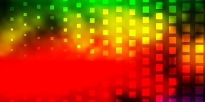 Dark Multicolor vector backdrop with rectangles.