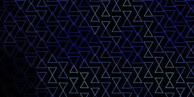 Fondo de vector azul oscuro con triángulos.