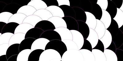 patrón de vector rosa oscuro con esferas.