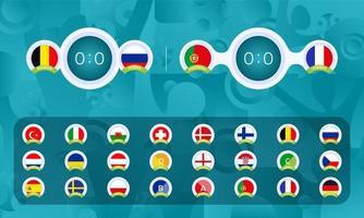 Football 2020 Sport scoreboards templates set vector