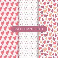 conjunto de patrones sin fisuras de corazón vector