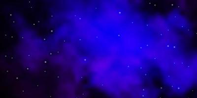 Dark Pink, Blue vector background with colorful stars.