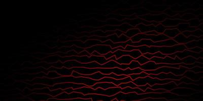 Dark Red vector pattern with wry lines.