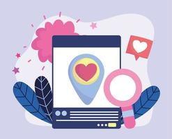 smartphone speech bubble love feeling social media