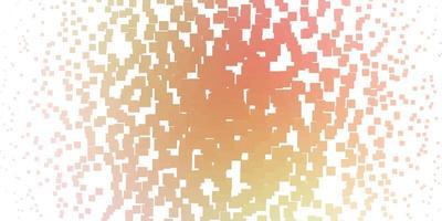 textura de vector de color rosa claro, amarillo en estilo rectangular.