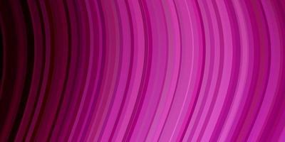 Fondo de vector rosa claro con curvas.