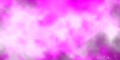 Light Pink vector pattern with abstract stars.