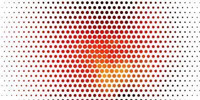 Fondo de vector naranja claro con círculos.