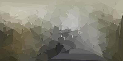 Plantilla de triángulo abstracto de vector gris claro.