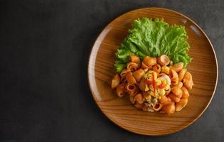 Rigate Italian pasta with tomatoes