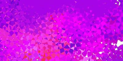 textura de vector multicolor claro con triángulos al azar.