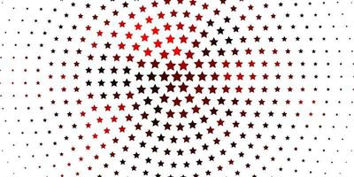 Light Red vector pattern with abstract stars.