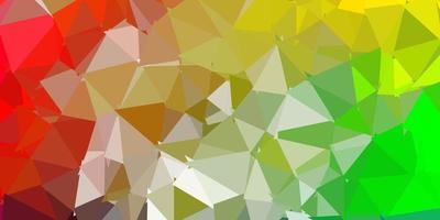 Telón de fondo de mosaico de triángulo vector multicolor claro.