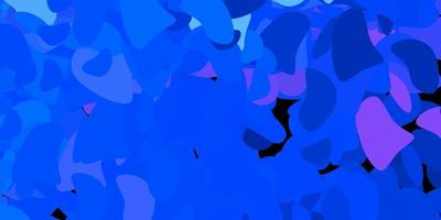 Dark pink, blue vector template with abstract forms.