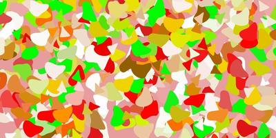 Light green, red vector pattern with abstract shapes.