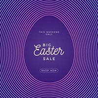 Easter egg square banner vector
