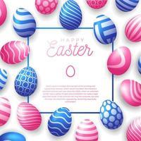 Easter egg frame vector