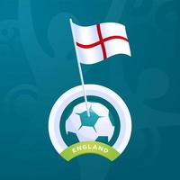 England vector flag pinned to a soccer ball