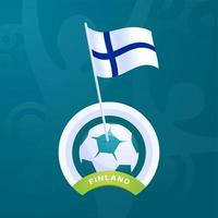 Finland vector flag pinned to a soccer ball