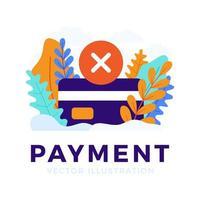 concepto de tarjeta de crédito de pago rechazado
