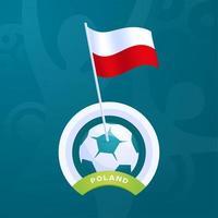 Poland vector flag pinned to a soccer ball