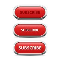 Red subscribe button vector design illustration isolated on white background