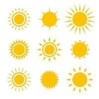Sun icon set vector design illustration isolated on white background