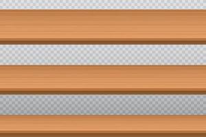 Wooden table top set vector